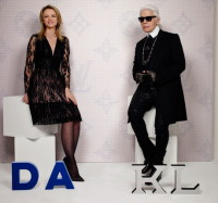 Karl Lagerfeld and Delphine Arnault